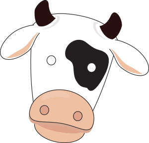 Declarative image for printable cow mask